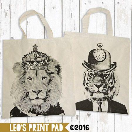 Calico Tote Bags with handles etsy.com/au/shop/LeosPrintPad madeit.com.au/leosprintpad