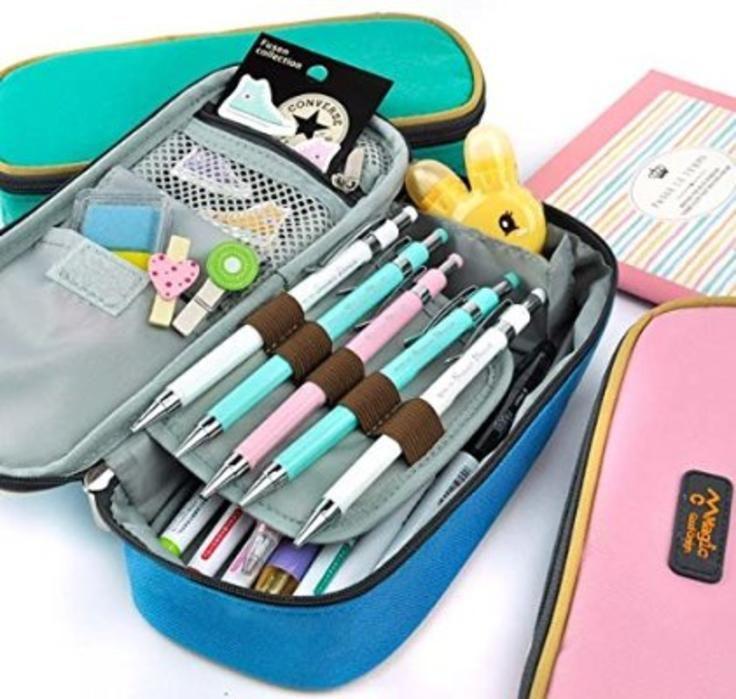 Cool pencil case color love pencil case pastel rose