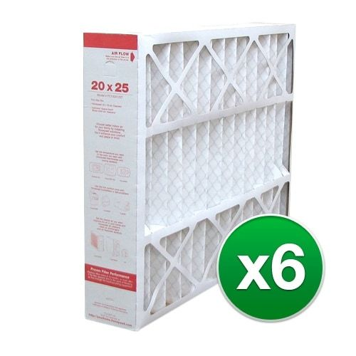 Replacement Pleated Air Filter for For Honeywell F300E1035 Hvac 20 x 25 x 5 Merv 11 (6 Pack), Grey smoke