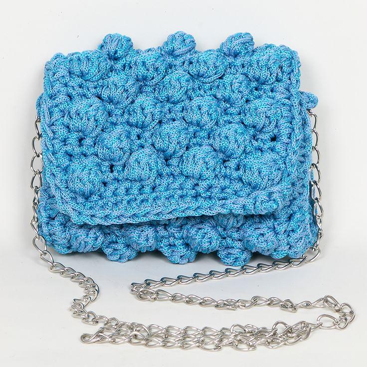 Handmade crochet mini clutch