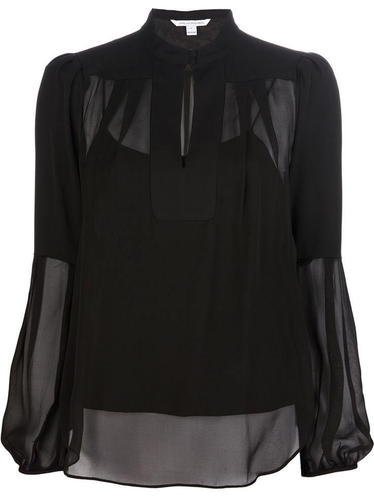 'Isolde' black silk blouse