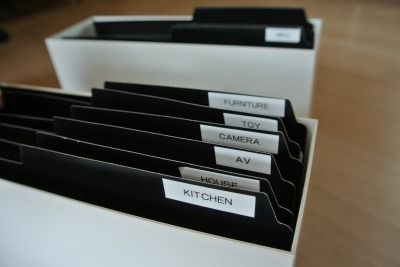 取扱説明書を無印良品のファイルボックスに収納 - 主人はミニマリスト。