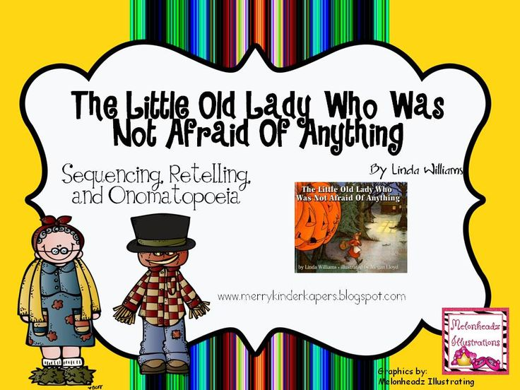 Kinder Kapers: Halloween and Onomatopoeia Freebie, The Little Old Lady Who Was N
