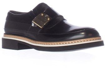 Alexander McQueen Chatsworth Studded Loafers, Black/black Haircalf.