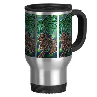 I just this gorgeous dragonfly travel/mug - artwork by Phil's Retroart.