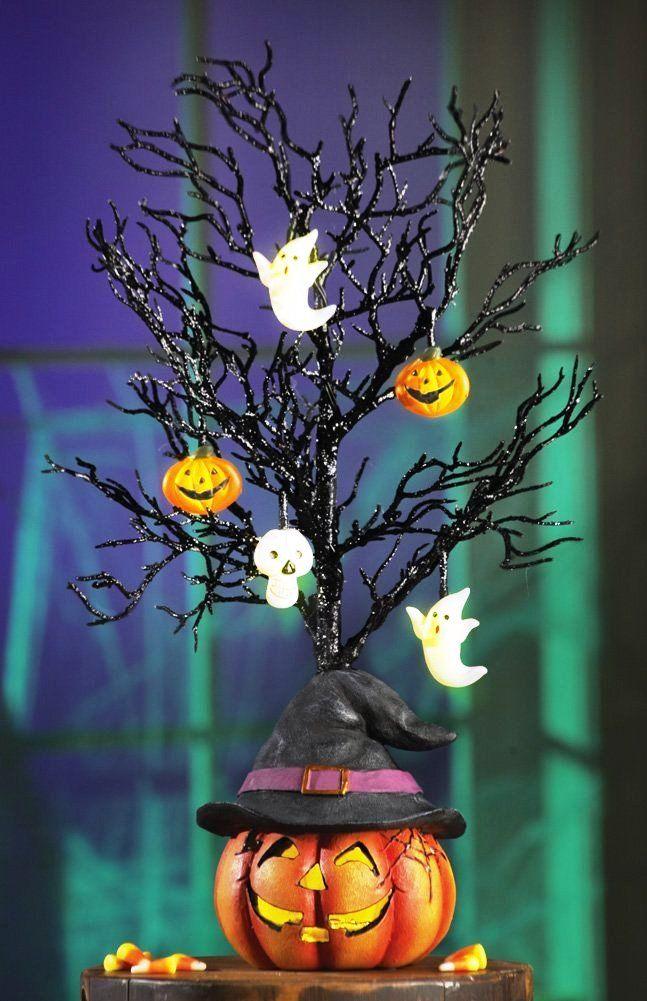 25 amazing halloween tree decorations ideas - Glitter Halloween Decorations
