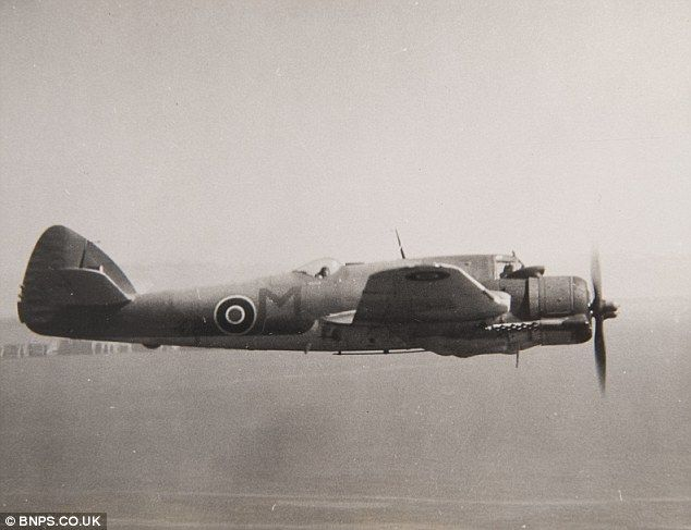 Daring: Ken Gatward needed to fly his Bristol Beaufighter just a few metres above the ground down the Champs-Elysees to complete the mission