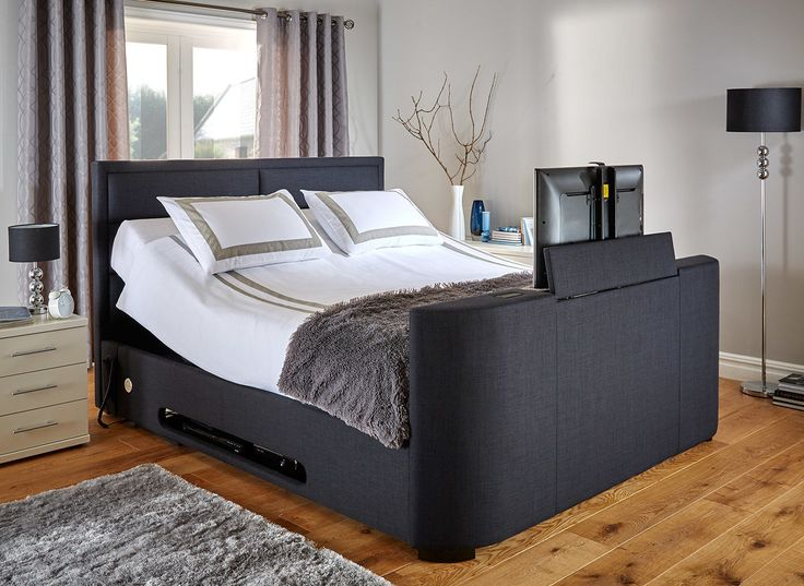 The Truscott TV bed is both stylish and practical, keeping your TV hidden so your bedroom can return to being a relaxing haven. Also available in a black faux leather, the Truscott is the perfect choice for the style conscious.