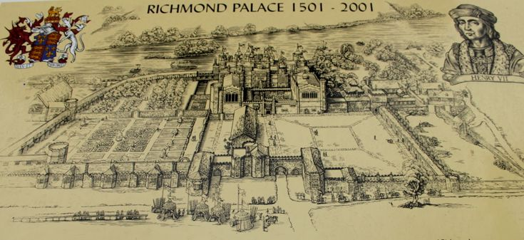 Richmond Palace | On the Green there is some tourist information about Richmond Palace.