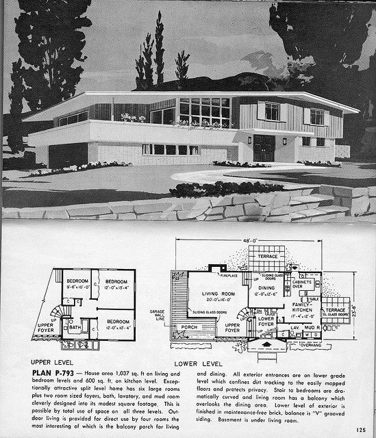 17 best images about residing modern ranch inspiration on for Split level house plans 1960s