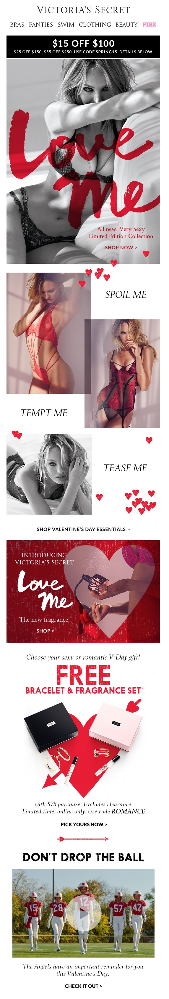 Victorias Secret Valentines Gift Guide Newsletter