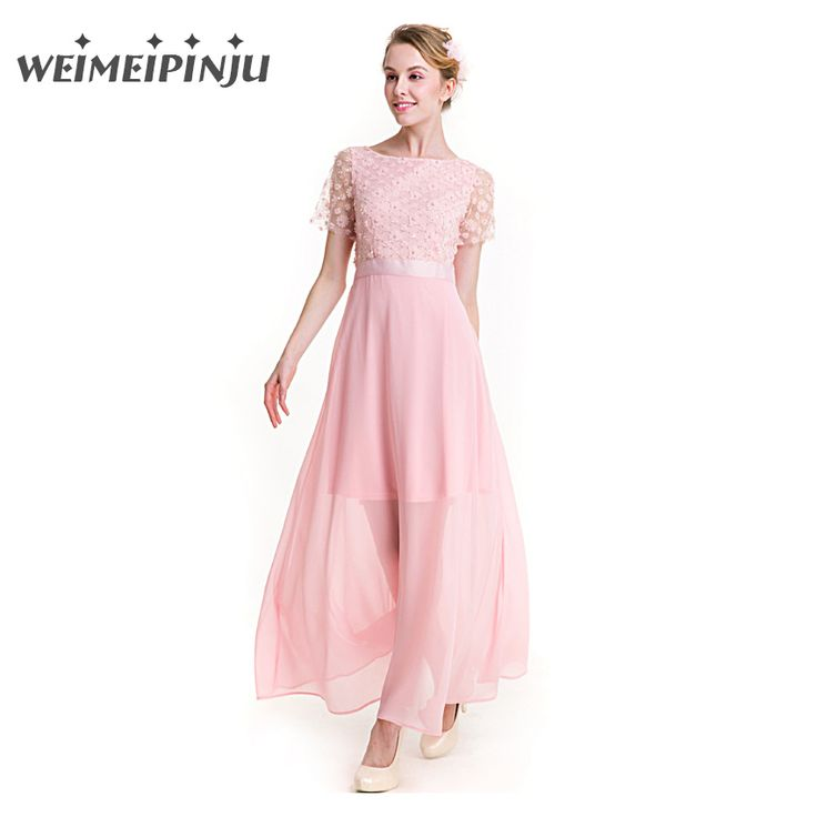 ==> [Free Shipping] Buy Best Summer Dress Women 2017 Chiffon Patchwork Lace Floral Mesh Ladies Dress Cute Elegant Pink Clothes Party Beach Long Tunic Dresses Online with LOWEST Price   32806668310