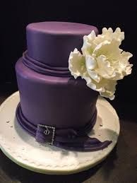 purple 40th birthday cake - Google Search