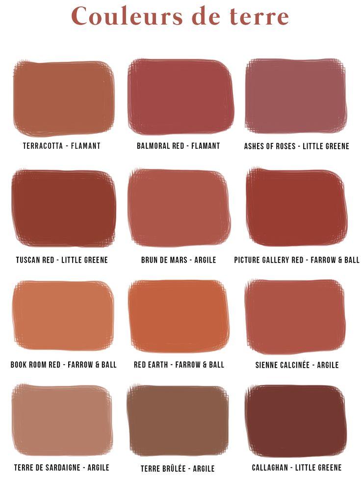 Nuancier Couleurs de Terre • Les Bons Détails #terracotta #earth #colors #couleur (c) Les Bons Détails