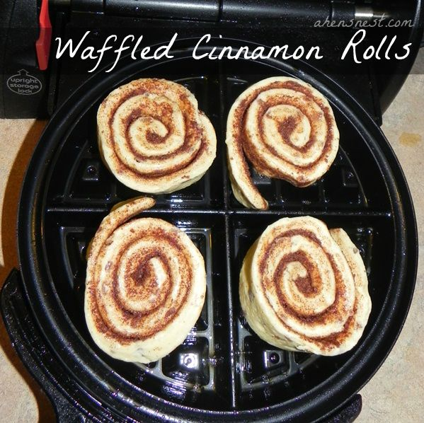 How to make Cinnamon Rolls in a Waffle Iron... Are you kidding me???
