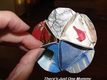 using christmas cards in crafts