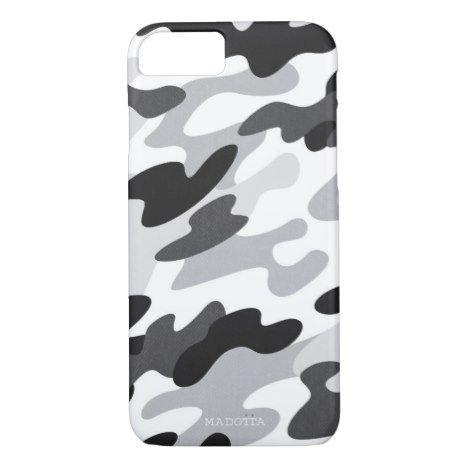 Snow Camo Pattern iPhone 8/7 Case #abstract #pattern #iphone #protective #cases