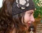 Tutoriel de fabrication bandeau tricot et fleur au crochet : Tutoriels de fabrication par lailou