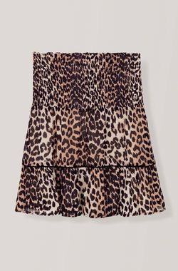 34369ddb779e Printed Georgette Mini Skirt, Leopard | Anti-Basic Fashion ♕ in ...