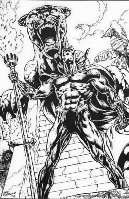black panther superhero coloring pages - photo#8