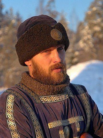 Russian man in medieval dress
