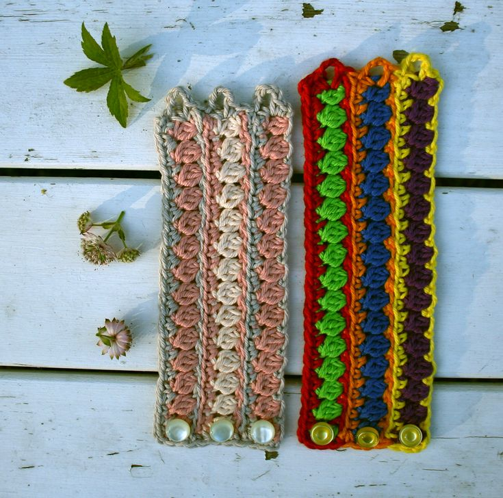 Crochet bracelet. Free Swedish pattern in our blog.
