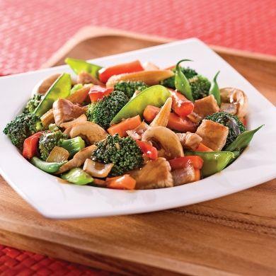 Sauté de porc et légumes à l''asiatique