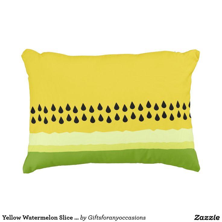 Gelbes Wassermelone-Scheibe-Akzent-Kissen Deko Kissen