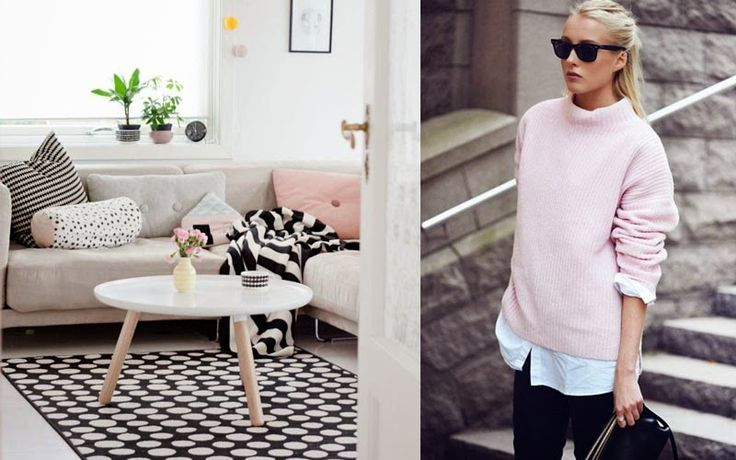 Home Becomes Her 80 S Pastel Trend Update Grey And Pink