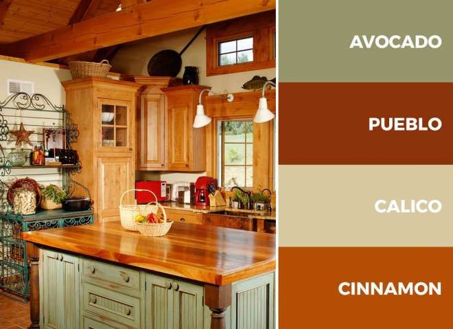 8+ Extraordinary Bold Kitchen Color Combinations Photos ...