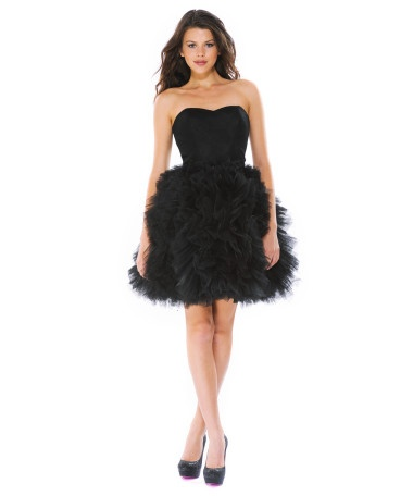 Betsey Johnson has always been one of my favorite designers. I love this whimsical black ballerina dress for an engagement party or rehearsal dinner.