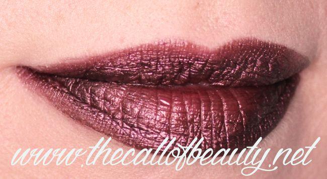 The Call of Beauty: Lip Swatch: Gerard Cosmetic Metal Matte Liquid Lipstick Underworld