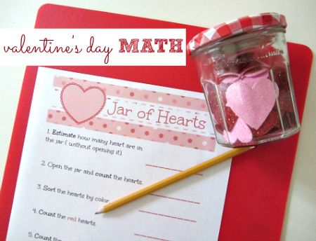 Valentine's Day Math - counting, sorting and estimation.