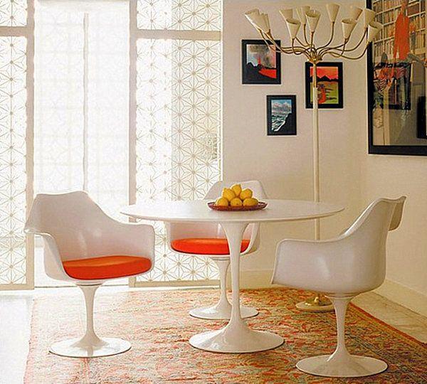 Knoll® Saarinen And Tulip Dining Set Saarinen Dining Table And Tulip⢠Arm  Chairs Part 78