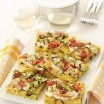 frittata-con-scamorza-e-zucchine-grigliate ricetta