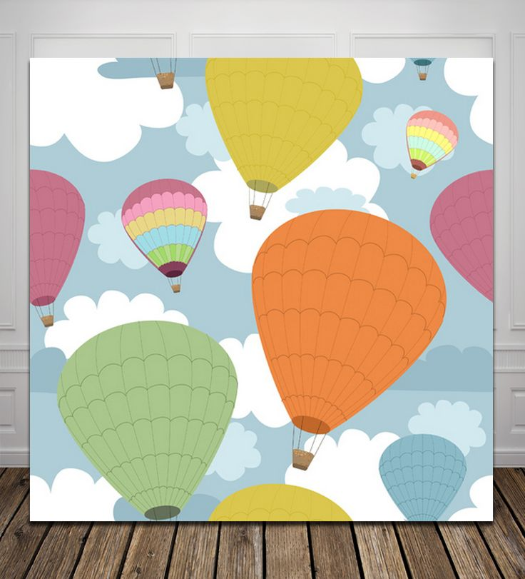 HUAYI Balloon backdrop for birthday party Computer Printed Photography Backdrop D825