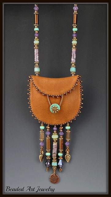 Pouch order #2 004 by Beaded Art Jewelry, via Flickr |Pinned from PinTo for iPad|