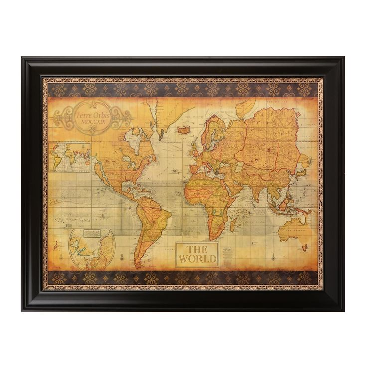68 best old world maps images on pinterest maps compass and old world map framed art print gumiabroncs Image collections