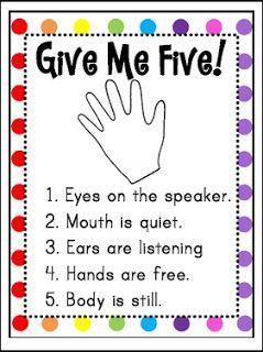 "Give Me Five Poster (FREEBIE) TBOTE 3/15/16 PreK-5 FREE LESSON - ""Give Me Five Poster (FREEBIE)"" - Go to The Best of Teacher Entrepreneurs for this and hundreds of free lessons. Pre-Kindergarten - 5th Grade #FreeLesson http://www.thebestofteacherentrepreneurs.net/2016/03/free-misc-lesson-give-me-five-poster.html"