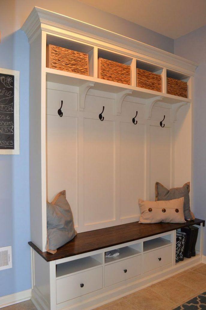 Diy Small Laundry Shelf Ideas Farmhouse Organization Lockers Bench Entryway Ga Wohnung Renovierung Dreckschleuse Haus Einrichten