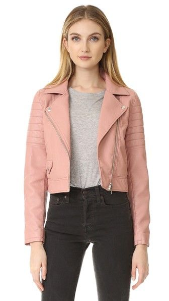 BLANK DENIM Pretty In Pink Moto Jacket. #blankdenim #cloth #dress #top #shirt #sweater #skirt #beachwear #activewear