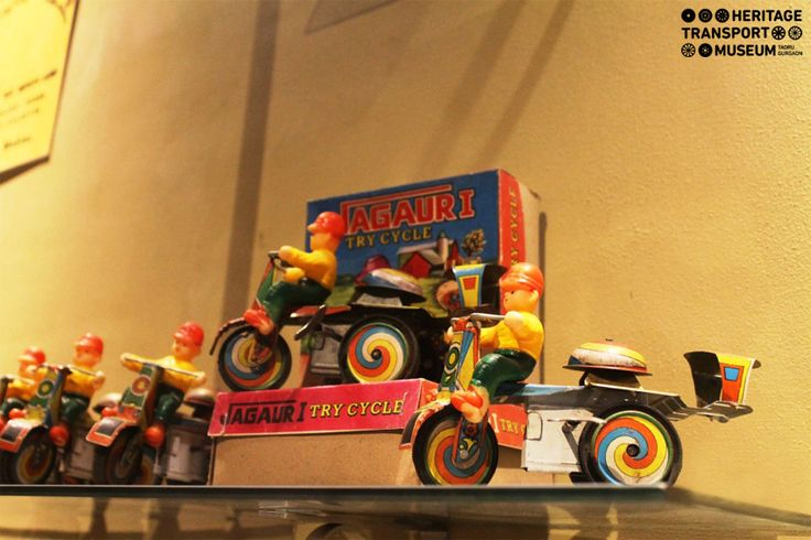 A Glimpse of #Jaguar #Tricycle ‪#‎Toys‬ placed in the toy section of the ‪#‎museum‬! They are small ‪#‎handmade‬ tin toys, made in #India.