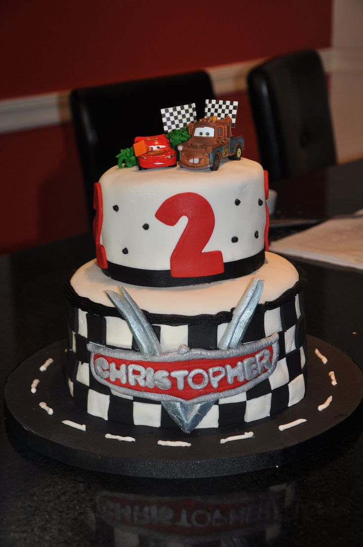 Gmail cars theme - Disney Cars Theme Cake For Christopher S 2nd Birthday