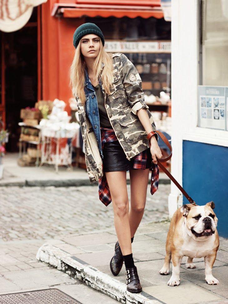 Cara Delevingne et George Alsford pour Pepe jeans automne-hiver 2013-2014