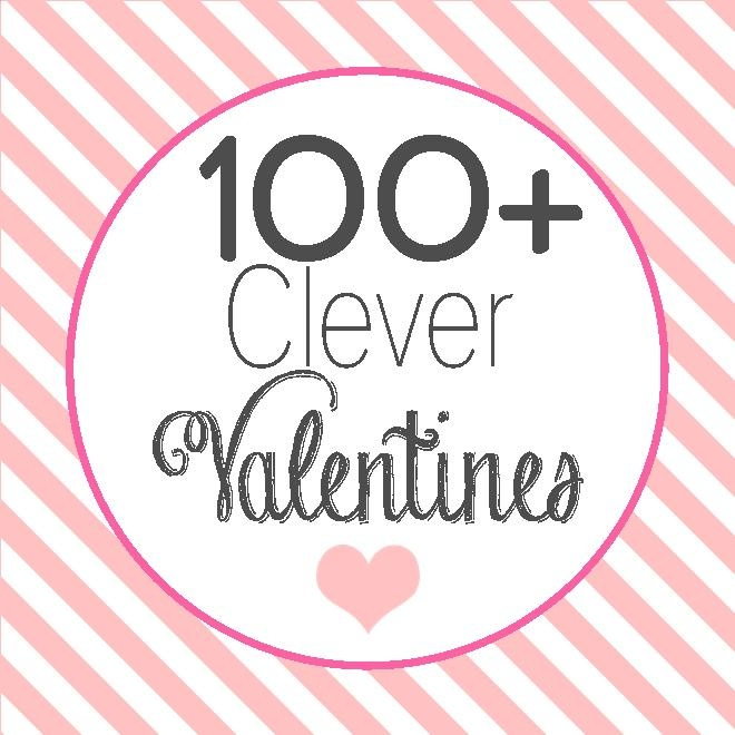 #100 + #clever #saying #valentine paired with candy, healthy food, craft stuff and/or beverages perfect for Valentine's Day @anna and blue paperie