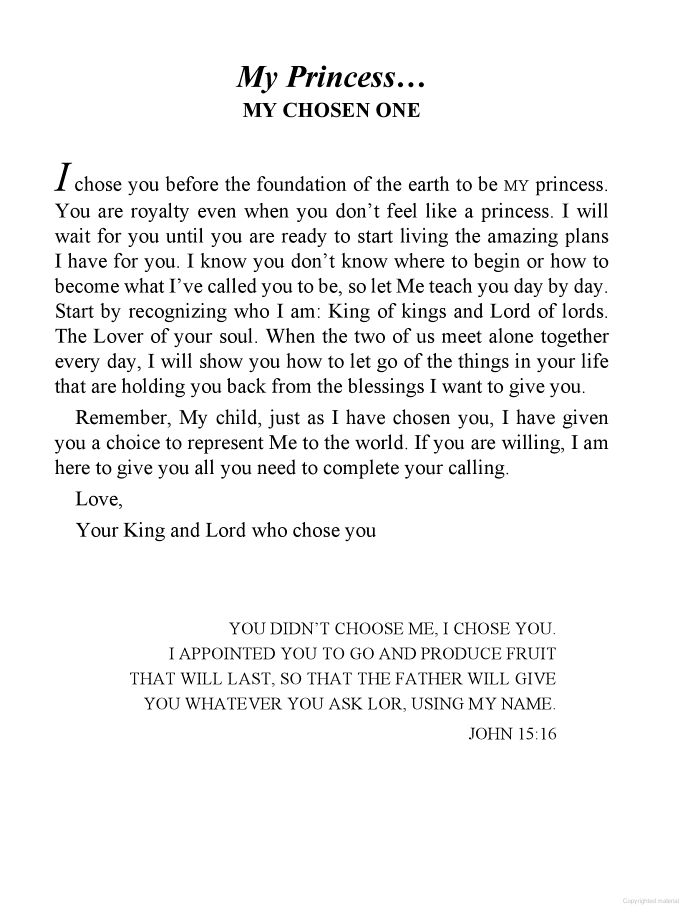 His Princess: Love Letters from Your King - Sheri Rose Shepherd