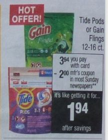 $7 in New Nicer Value Tide Coupons (Tide Pods for $1.96 Starting 04-30 at CVS)