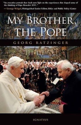 This book is a unique window on an extraordinary family that lived through the difficult period of National Socialism in Germany. Those interested in knowing more about the early life of Benedict XVI will not be disappointed. They will also learn of the admirable character and inspiring example of the parents, and see how the Catholic faith can shape not just a family, but an entire culture. (http://store.casamaria.org/my-brother-the-pope-msgr-georg-ratzinger/)