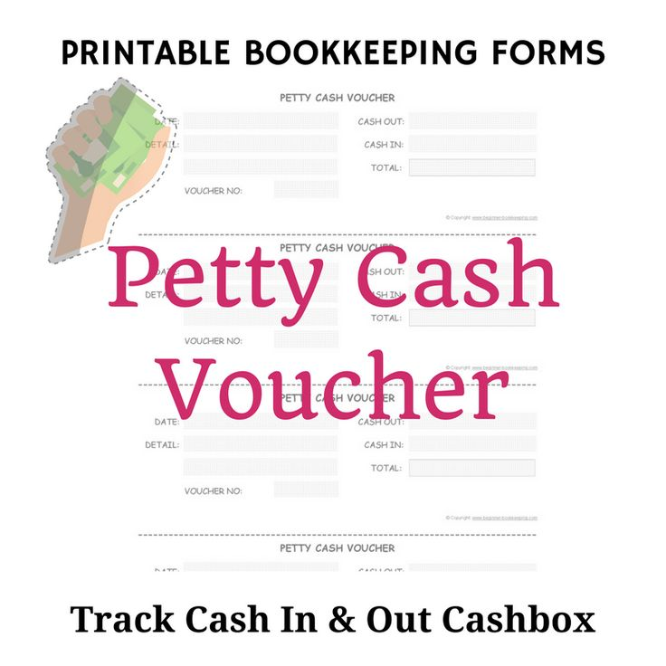This goes with the petty cash log; use each voucher to write more detail of each amount of cash put into your cashbox or spent out of your cashbox.