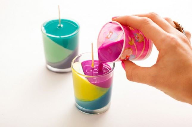 Recycled Crayon Candles 6